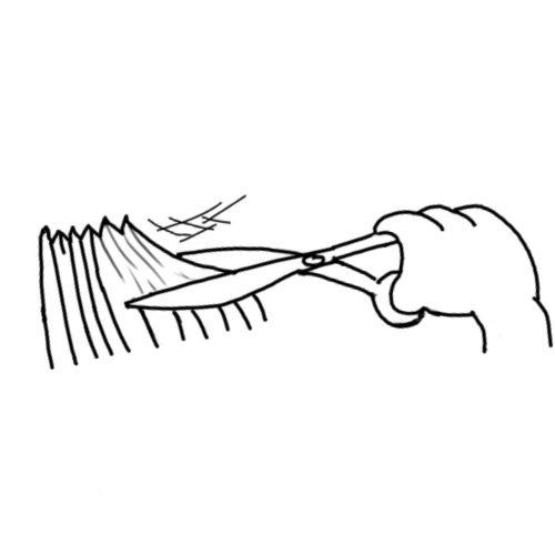 Scissors Pushing Hair